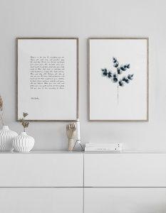 Vacker poster med akvarellmålning   Tavlor och planscher med botaniska motiv