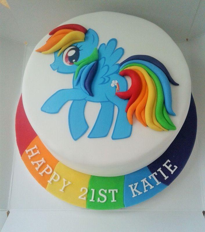 My Little Pony Cake Rainbow Dash made by Lara's Theme Cakes