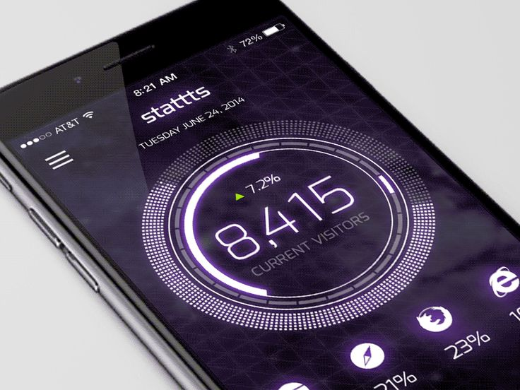 Mobile UI Motion Concept by Devin Fountain for Collective Ray