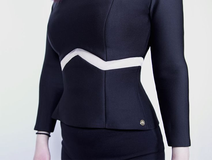 Handmade Fitted Black Neoprene Top with Mesh Panels made in Toronto with love 💕  Chic Sophistic™ http://chicsophisticstore.com/product/neoprene-top-with-inside-bra/