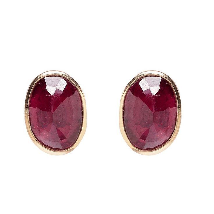 Jamie Joseph African Ruby Stud Earrings $625.00