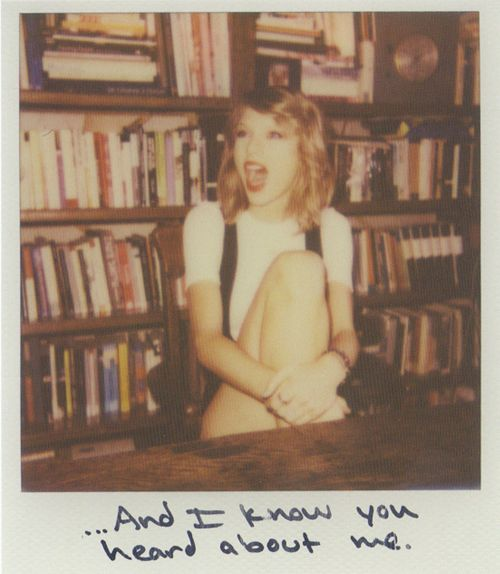 polaroid-style designs // taylor swift, 1989, magazine inspiration, blank space