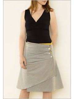 I may have to try my hand at this skirt! (pattern instantly available as a download on Interweave)