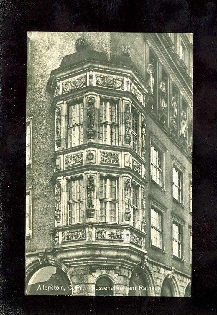Allenstein-Olsztyn,Russenerker am Rathaus 1929