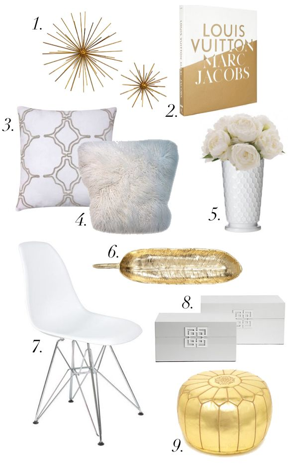White and gold home decor now on b l o g pinterest home cakes Home decor gold