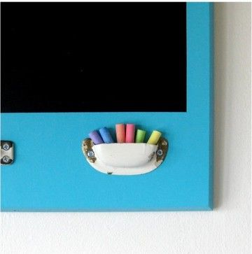 Repurposed Ecofriendly Chalkboard, Turquoise, by Half Pint Salvage - eclectic - bulletin board - Etsy