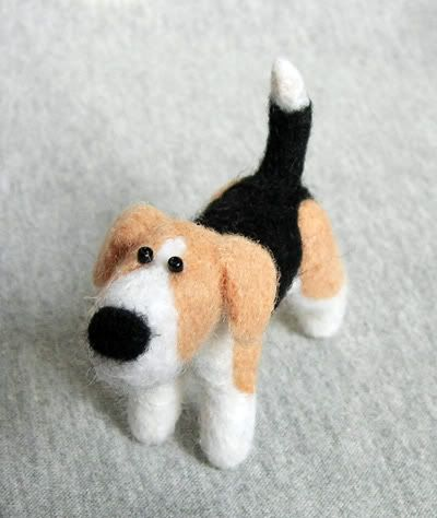 felted dog. certainly too hard for me, but i've got connections...DIY info here