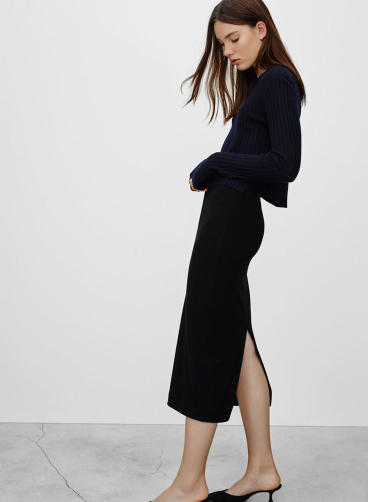 BABATON JOHAN SKIRT - <p>Understated sexiness with streamlined sensibility</p>