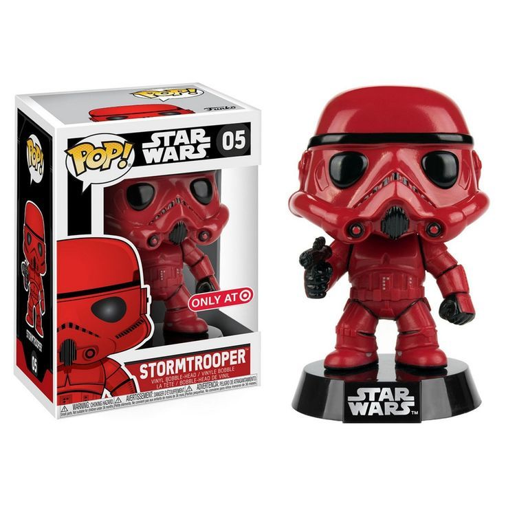 Funko POP Star Wars: Red Stormtrooper Mini Figure |This Target exclusive Star Wars POP! bobble-head figure measures 3 3/4 inches tall and comes on a decorative Star Wars stand #ad #starwars #funkopop