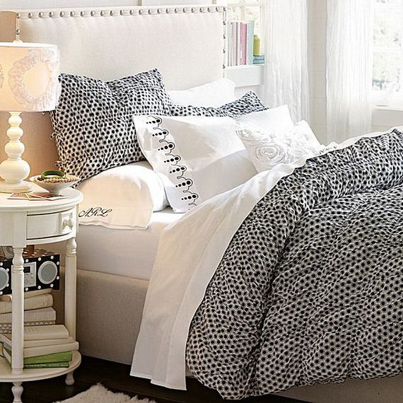 bedroom interesting simple white combine grey color also polka dot teen girls bedding side white small table lamp brilliant various color ideas teenage