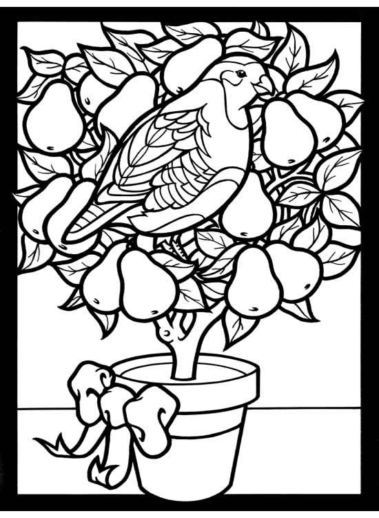Stained glass christmas tree coloring pages coloring pages for Christmas stained glass coloring page