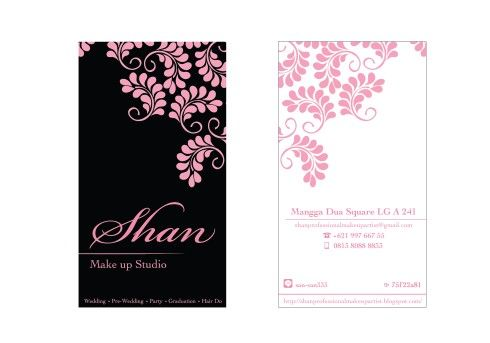 Make Up Studio Namecard