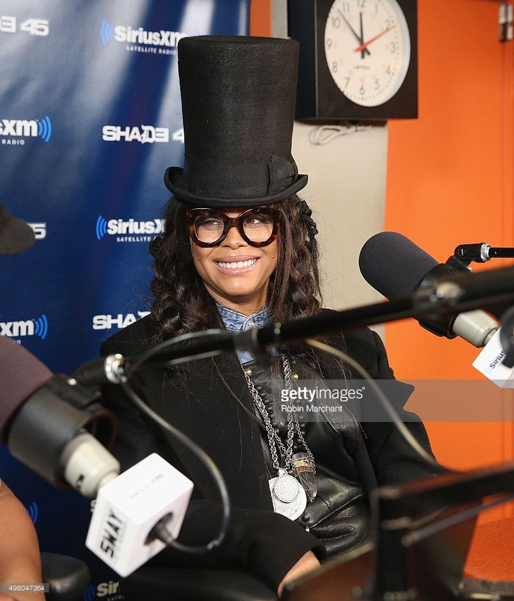 Erykah Badu visits 'Sway in the Morning' with Sway Calloway on Eminem's Shade 45 at SiriusXM Studios on November 20, 2015 in New York City.