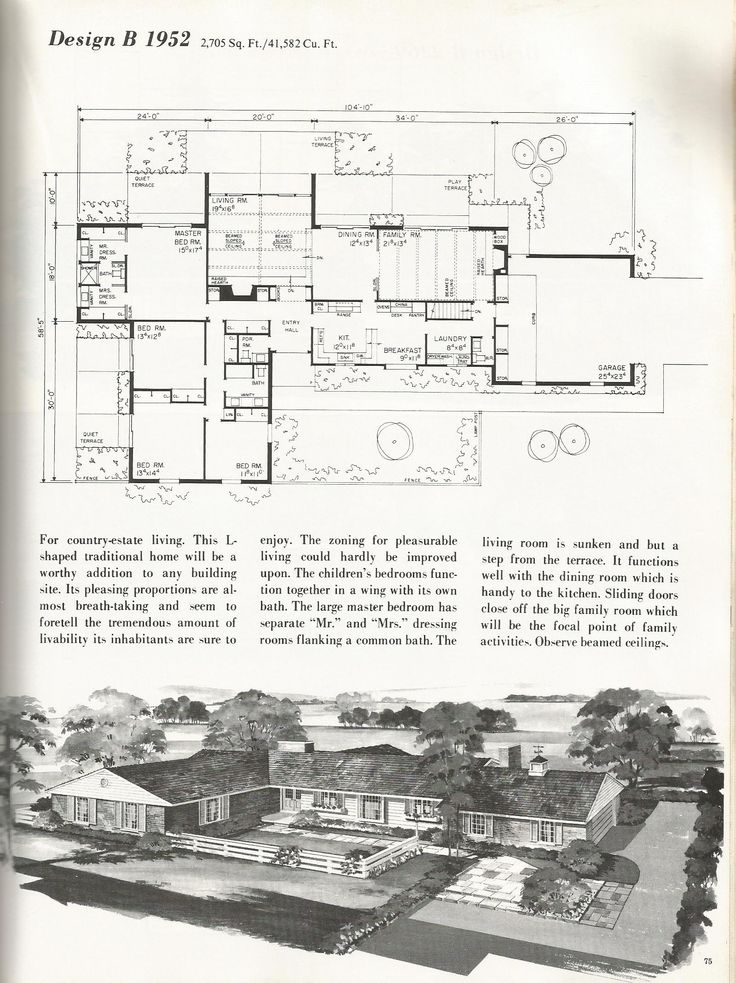 202 best images about ranch house on pinterest house for Mid century ranch house plans