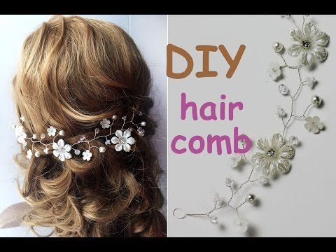 Perfect For Diy Brides Easy Hair Comb Tiara Bridal Headpiece Vine Tutorial Crown You Pinterest And