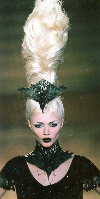 """Alexander McQueen for Givenchy. """"Elect/Dissect"""", Haute Couture Fall/Winter 97/98  scanned from the book """"Gothic - Dark Glamour"""""""
