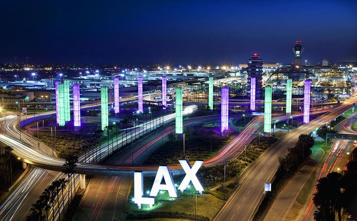 los angeles | Los Angeles International Airport at night
