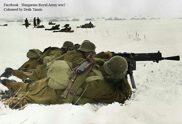 Hungarian Schwarzlose Machinegun team