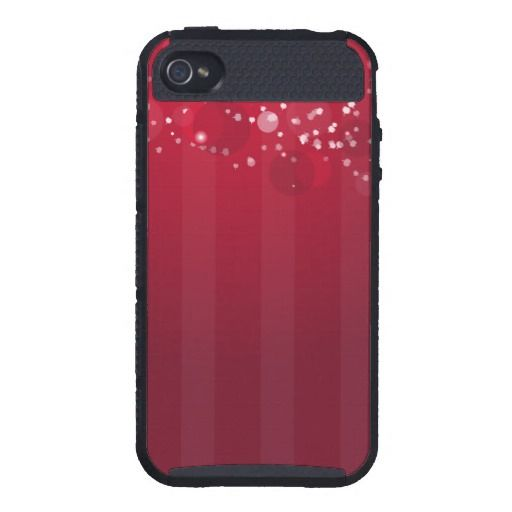 Red Pink Abstact Circle line Design iPhone 4/4S Covers