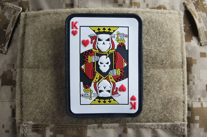 ITS Suicide King Morale Patch - We had such an overwhelming response to our 2014 SHOT Show Casino Plaques that we wanted to create a detailed PVC patch to go along with them. We're excited to offer this quality made PVC patch that features raised elements and hook velcro on the back to stick them wherever you'd like. Pick one up today in the ITS Store! http://itstac.tc/1d0PdJ5