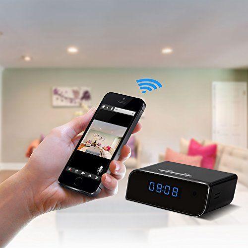 Eyeclub Wi-Fi Hidden Camera Alarm Clock Spy Cam HD Wireless IP Security Surveillance Camera Motion Activated Nanny Camera Night Vision