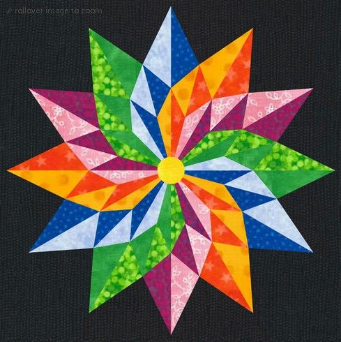 Circle in Square Quilt Block | The Good Luck Star Quilt Block Pattern