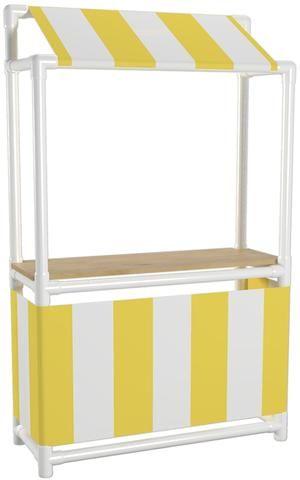 PVC Lemonade Stand.  https://formufit.com/blogs/news/117740356-how-to-build-a-pvc-lemonade-stand