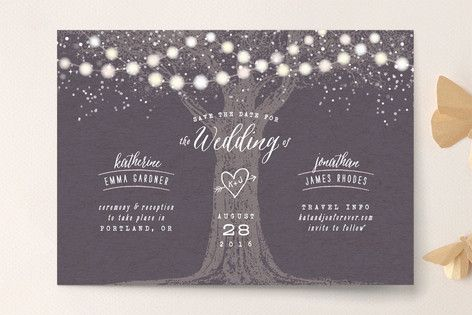 Love this one too! In purple of course :) Garden Lights Save the Date Cards by Hooray Creative at minted.com