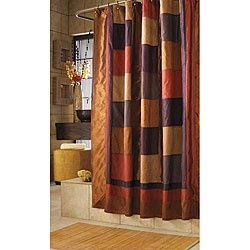 @Overstock - Add some Southwestern color to your bathroom with this color block shower curtain. Created in the brown, deep purple, and rusty orange colors, it is made out of 58-percent nylon and 42-percent polyester and is machine washable. It measures 72' x 72'.http://www.overstock.com/Bedding-Bath/Kashmir-Multi-color-Shower-Curtain/4662698/product.html?CID=214117 $26.99