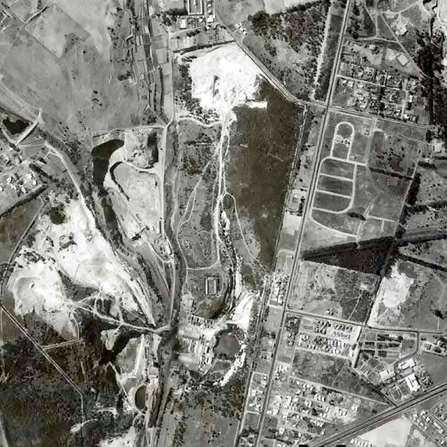 Tygervalley 1968    Quarry still operational . See notes for Durbanville Ave. and N1.