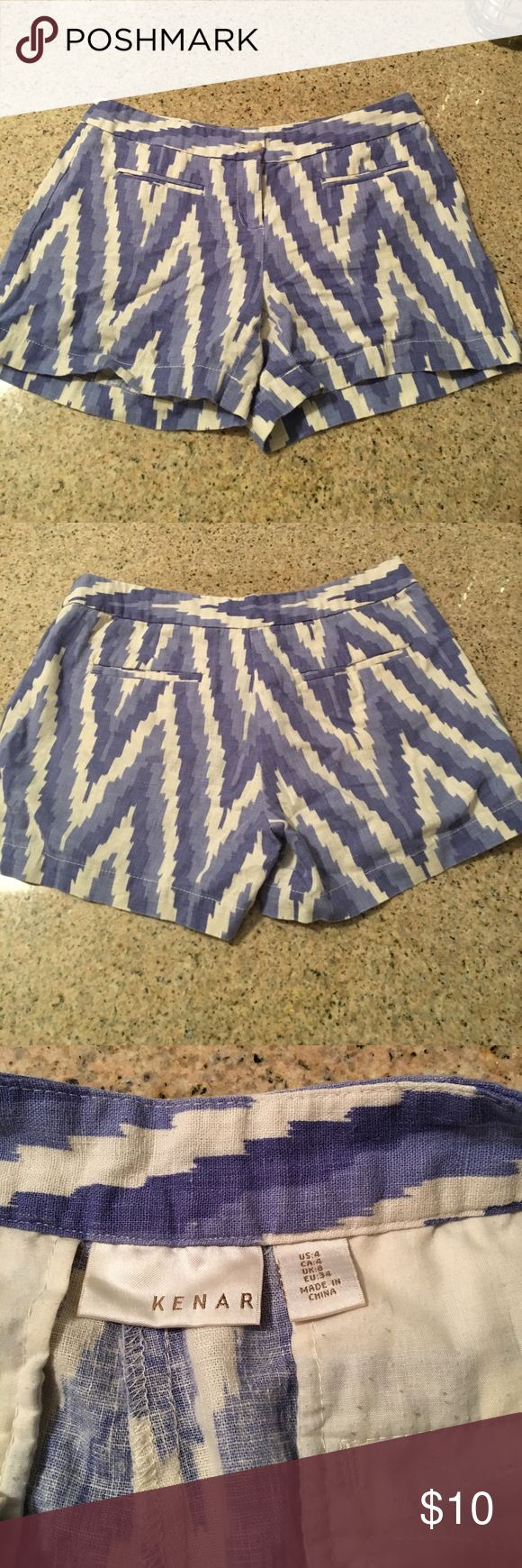Kenar blue and white shorts Excellent used condition size 4! Kenar Shorts