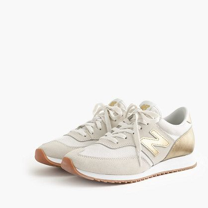 Women's New Balance® for J.Crew 620 sneakers gold metalic