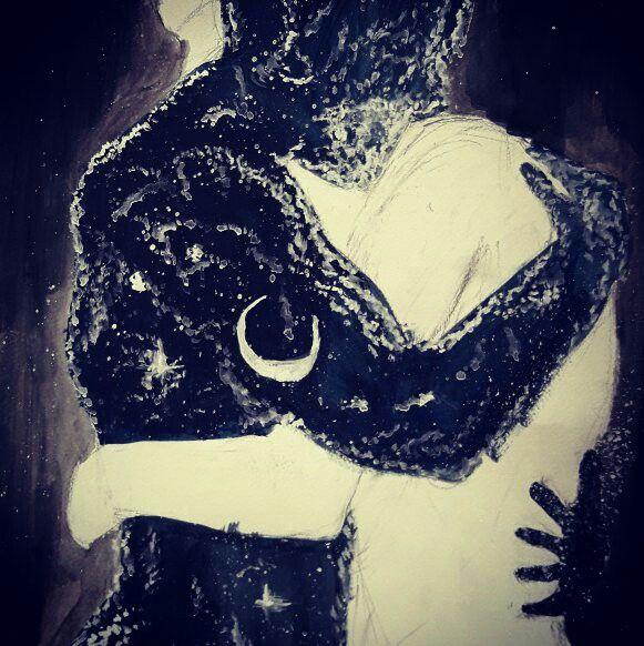 #art #moon #painting