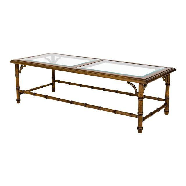 Faux Bamboo Coffee Table Image 1 Of 10 Coffee Table Coffee