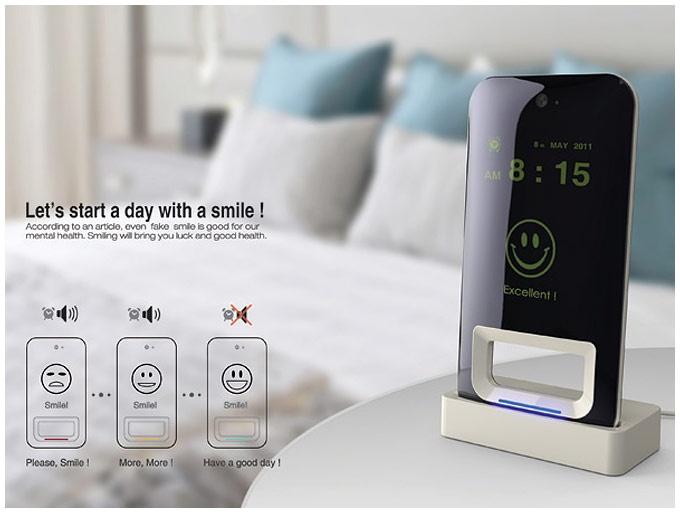 Despertador que solo se apaga si le sonries