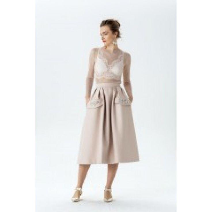 Mink Dutchess Satin Skirt