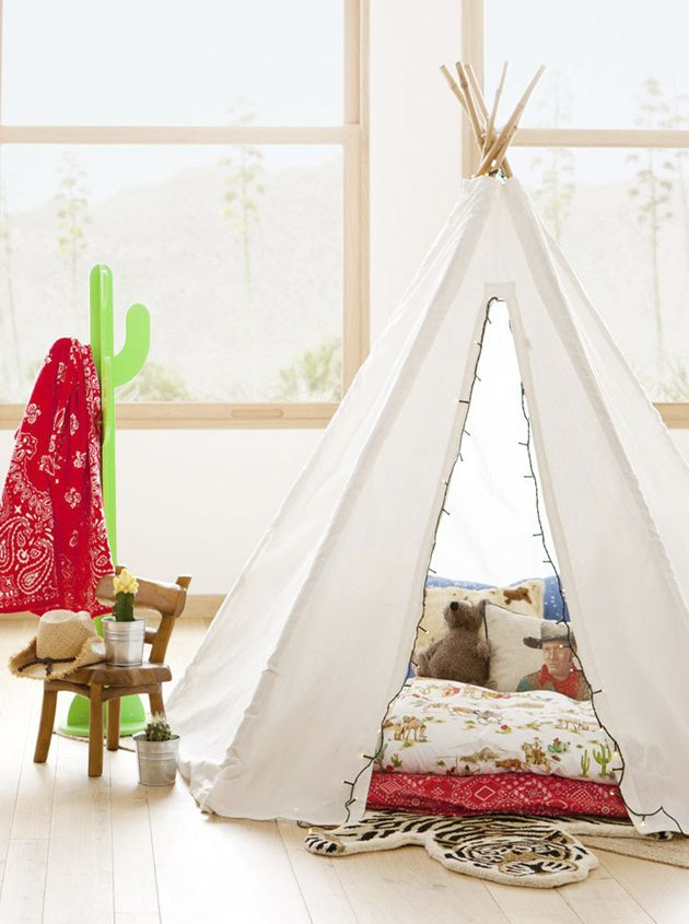 ChicDecó | Tipi • Indians and Cowboys kids room, by Zara Home