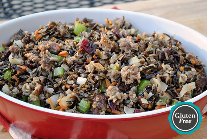 Wild Rice and Water Chestnut Stuffing with Jones Sausage