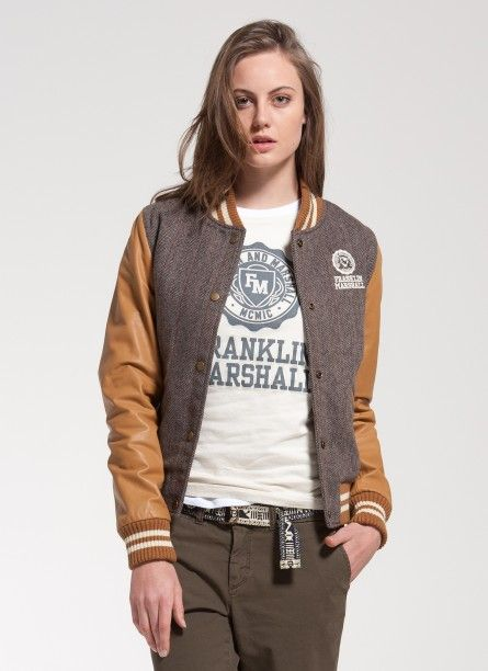 Franklin & Marshall version of the classic American university letterman jacket