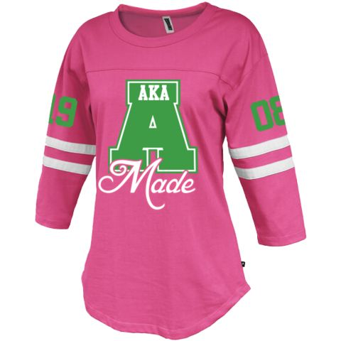 Alpha Kappa Alpha Vintage Stripe Jersey - Letters Greek Apparel-Black Greek Paraphernalia-Divine Nine Apparel