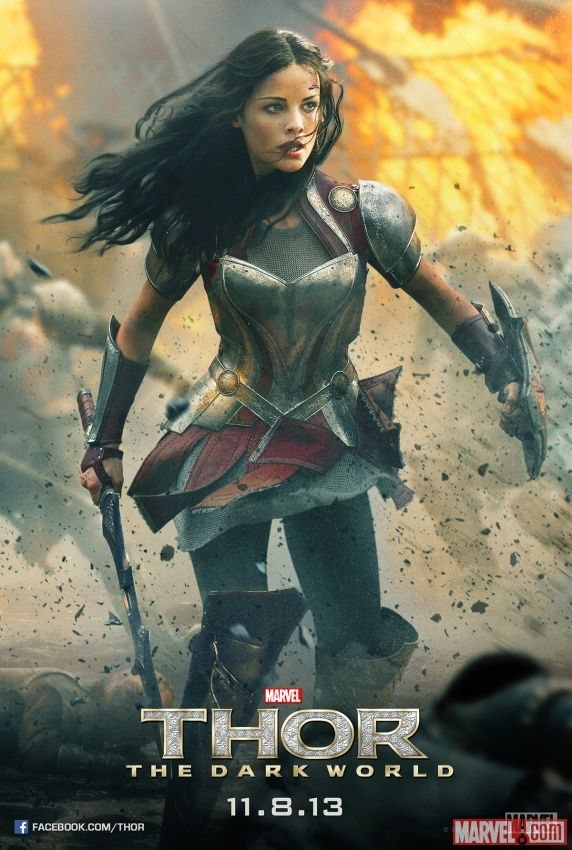 Get an EXCLUSIVE look at the mighty #Sif (Jaimie Alexander) on her poster for Marvel's #Thor: The Dark World, in theaters November 8! http://marvel.com/news/story/21189/exclusive_sif_hits_the_battlefield_in_new_thor_poster