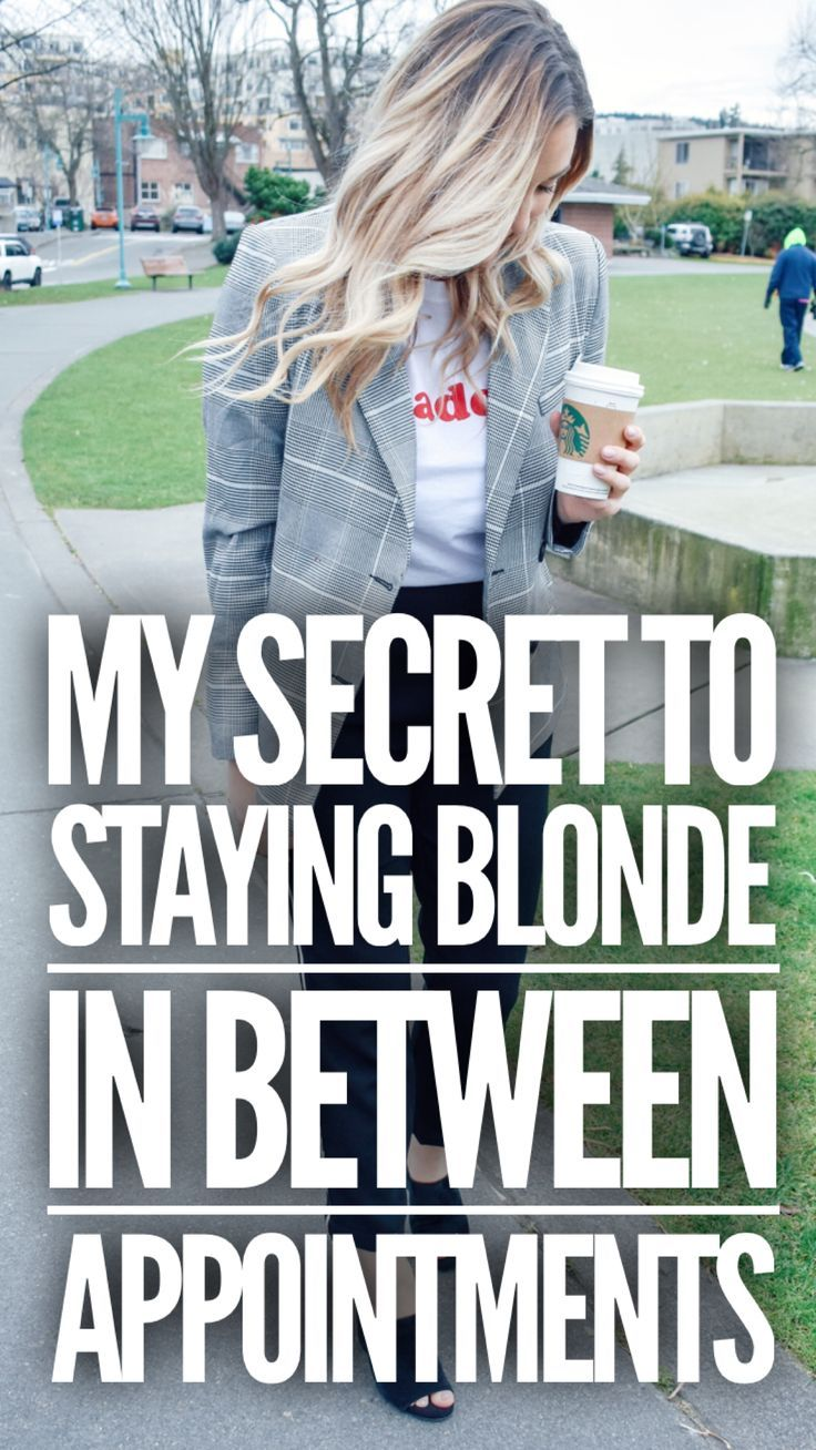 How I keep my hair blonde in between salon appointments!