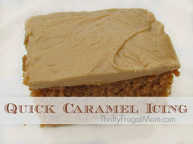This delicious caramel icing is made with every day kitchen staples and is super easy to make! Try it and you won't ever want to use bought icing again!