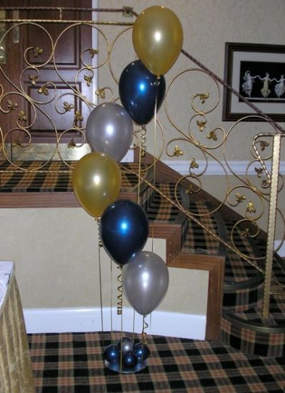 balloon clusters of 5 with a top