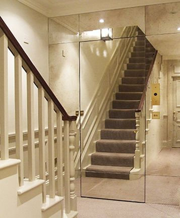 London entrance hall with mirrored jib door & 9 best Jib Doors images on Pinterest | Hidden doors Moldings and ...
