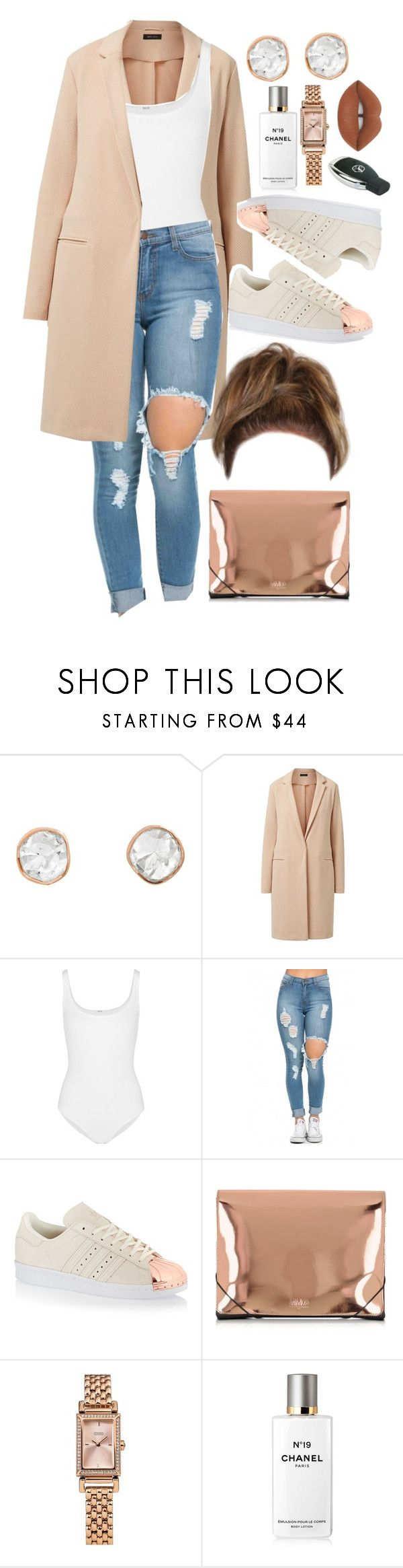 """26 January, 2016"" by jamilah-rochon ❤ liked on Polyvore featuring Sally Agarwal, Wolford, adidas Originals, MM6 Maison Margiela, Coach, Chanel, Lime Crime, women's clothing, women and female"