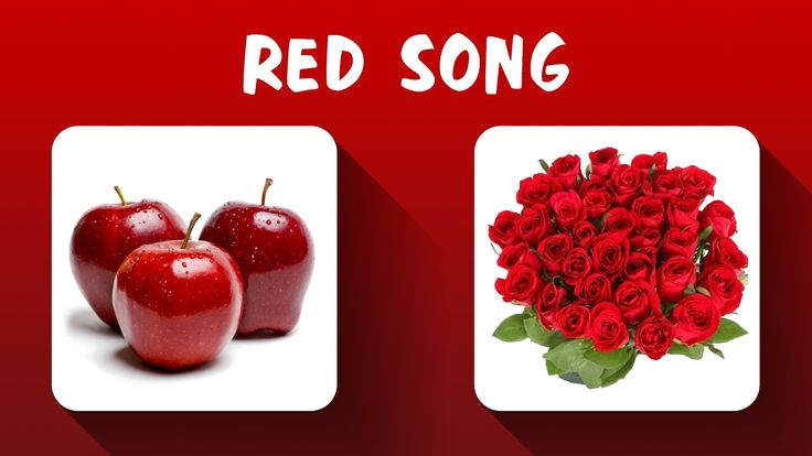 Red Color Song - Colors Song - Learn Colors, Teach Colors, Baby Toddler ...