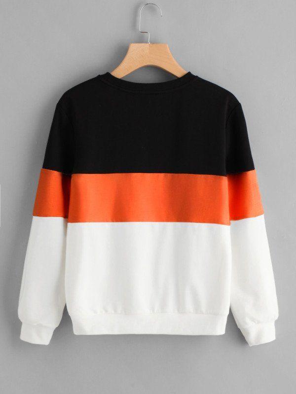 Buzo Ancho Tricolor Con Naranja Comprar Online Ropa Tumblr