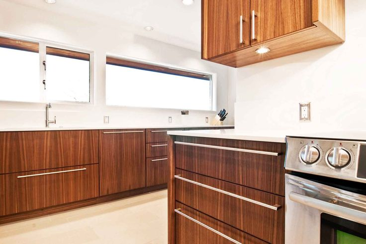 maple kitchen cabinets - simple, modern