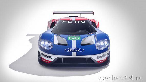 Суперкар Ford GT / Форд GT для Ле Ман – вид спереди